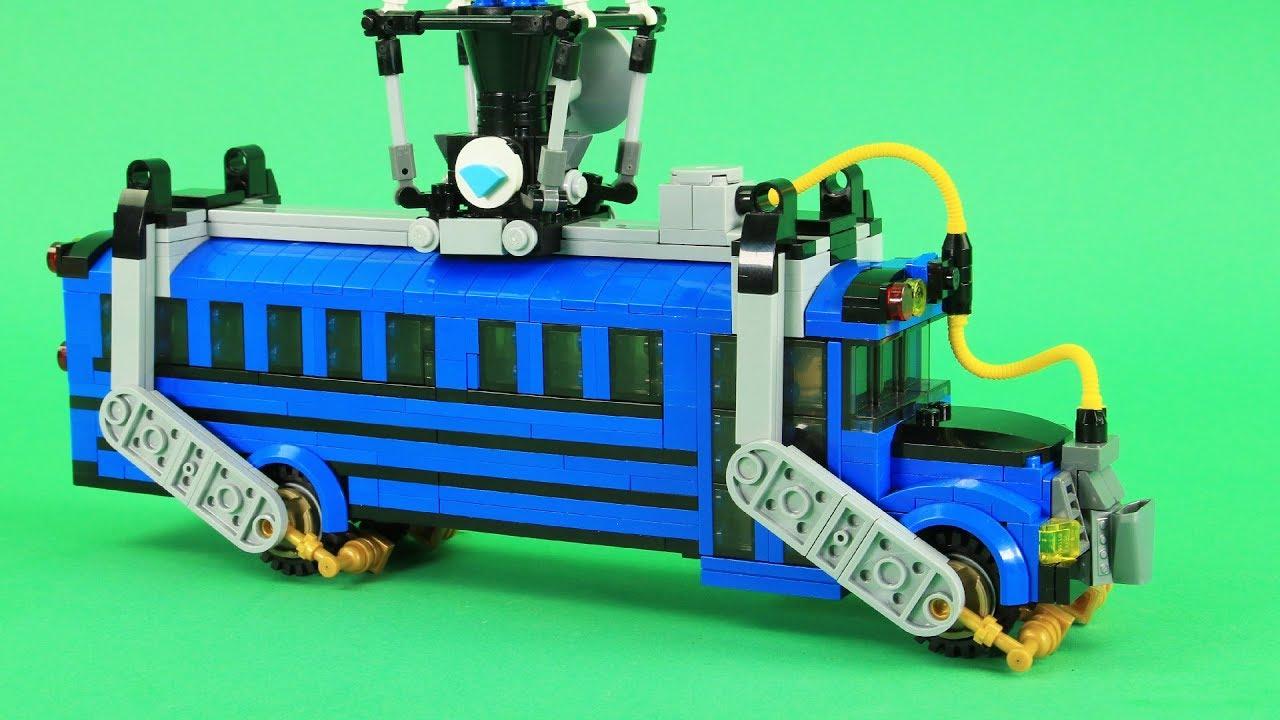 Kleurplaten Lego Cars.Lego Fortnite Battle Bus Custom Fortnite Battle Royale Lego Moc