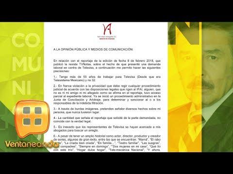 Jorge Ortiz de Pinedo demanda a su televisora | Ventaneando