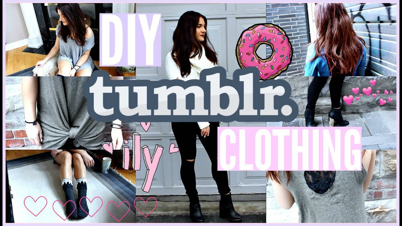 EASY DIY TUMBLR Inspired CLOTHES!!!! - YouTube