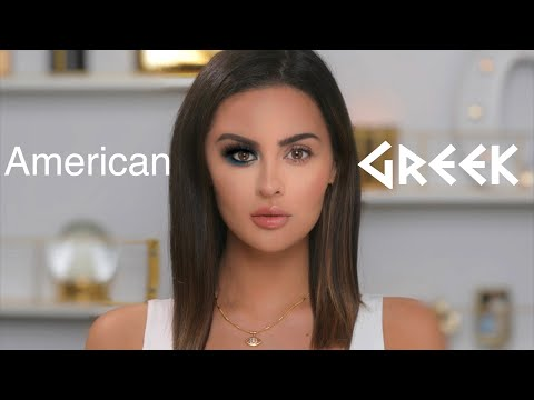 AMERICAN VS GREEK MAKEUP TUTORIAL