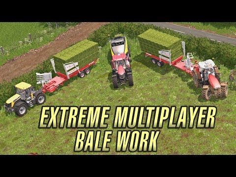 Extreme Bale Work Multiplayer | Coldborough Park Farm | Mini Series | Ep 3