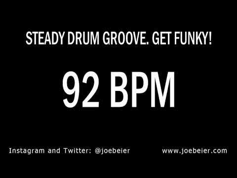 92 BPM - Simple Drum Beat - Backing Track - Funky Swing - Practice Tool