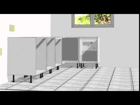como montar una cocina 02 muebles bajos youtube