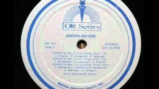 Gambar cover Haydn / Artur Balsam, 1968: Piano Sonata No. 5 in G, Hob. XVI/11