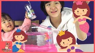 공주해마 로봇피쉬 거품 어항 장난감 물고기 놀이 ♡ 어린이 장난감 놀이 Princess seahorse bubble aquarium toys | 말이야와아이들 MariAndKids