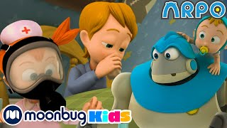Arpo The Robot - Germ War   Moonbug Kids TV Shows - Full Episodes   Cartoons For Kids