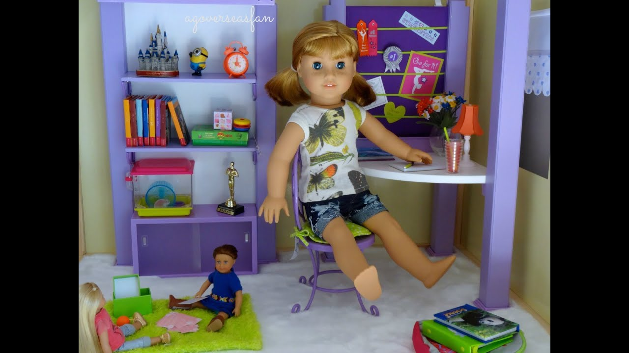 Doll Furniture For Sale Part - 15: Setting Up American Girl Doll House With Furniture - YouTube