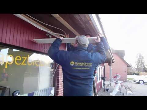 Dachunterschlag Aus Pvc Paneelen Richtig Montieren Youtube