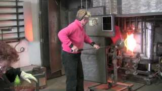 Elodie Holmes, Glass Blowing demonstration filmed by Aaron Harrington/theTALENTree Webseries.