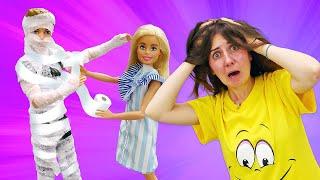 Куклы науроке! —Барби иТереза ЛЕЧАТ Кена, укоторого ПЕРЕЛОМ! —Куклы устроили сцены ревности