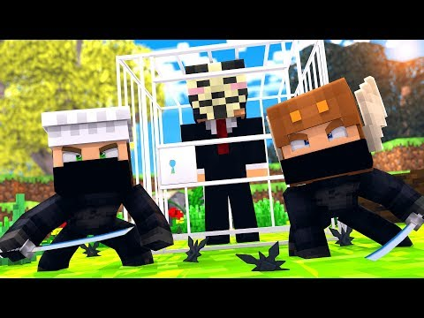 Minecraft HACKER - NINJAS vs HACKERS SPY BATTLE! (Minecraft Kids Roleplay) thumbnail