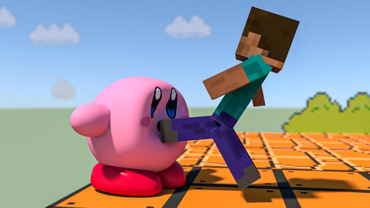 Kirby vs Steve - Steve Final Smash - [Jelly Kirby]