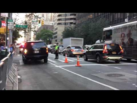 NYPD & UNITED STATES SECRET SERVICE PATROLLING IN MANHATTAN DURING UNITED NATIONS GENERAL ASSEMBLY.