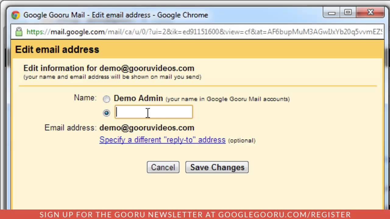 How To Change Your Sender Name In Gmail Youtube