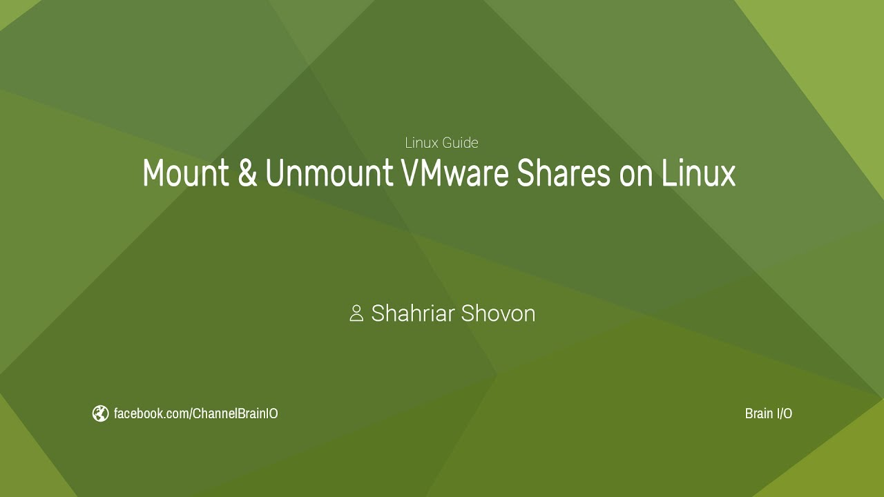 Mount and Unmount VMware Shares on Linux