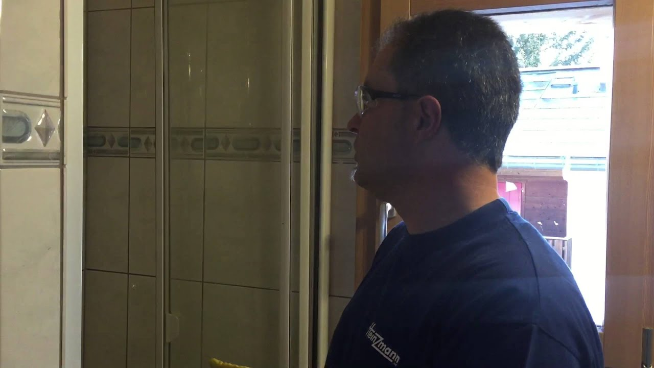 Duschkabine Schiebetür Reinigen frühlingsputzaktion: reinigung dusche - tipps - youtube