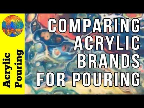 Product Comparison: Testing Four Popular Acrylic Paint Brands