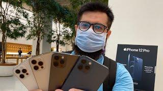 iPhone 12 Pro all colours comparison Blue VS Gold VS Silver VS Graphite