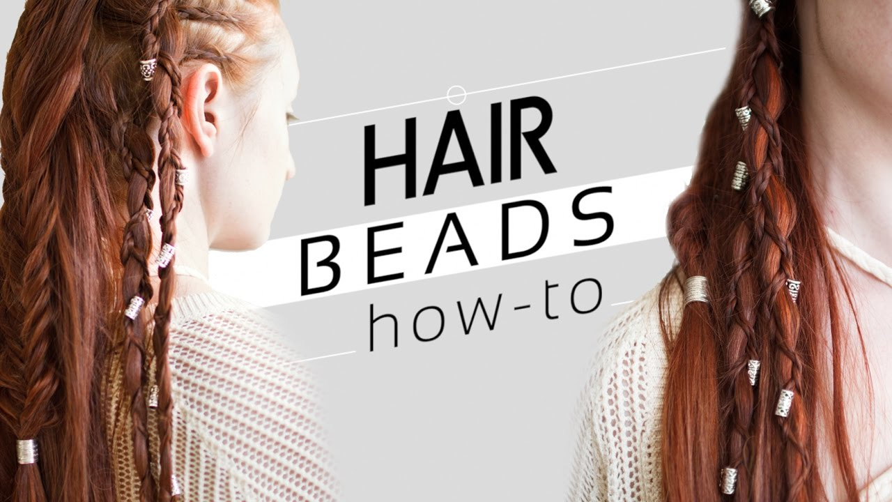 How To Use Beads In Your Hair And Braids Youtube