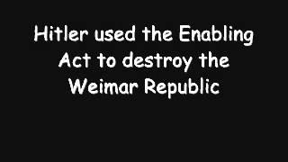 Democracy to Dictatorship in Germany (1933-1934)