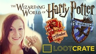 Harry Potter Loot Crate Unboxing - Wizarding World - Go Gryffindor - Fantastic Beasts - Sorting Hat