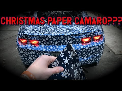 Wrapped My Car In Christmas Paper