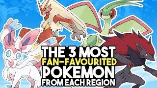 The 3 Most Fan-Favourited Pokemon From Each Region