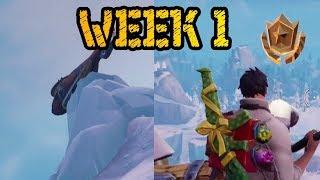 WEEK 1 HIDDEN BATTLE STAR LOCATION SEASON 7 - Fortnite Battle Royale Challenge
