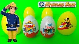 Fireman Sam Sam le pompier Oeufs Surprise jouets - Fireman Sam Surprise Eggs Toys