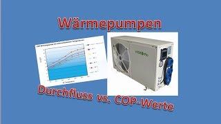 Durchfluss vs. COP Wert bei Wärmepumpen - TEIL 6
