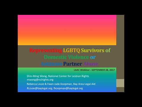 Working with LGBTQ Survivors of Domestic Violence or Intimate Partner Abuse