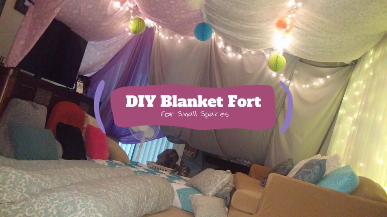 Diy Blanket Fort For Adults Youtube