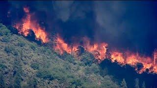 שריפות יער בצפון מדינת קליפורניה ארה