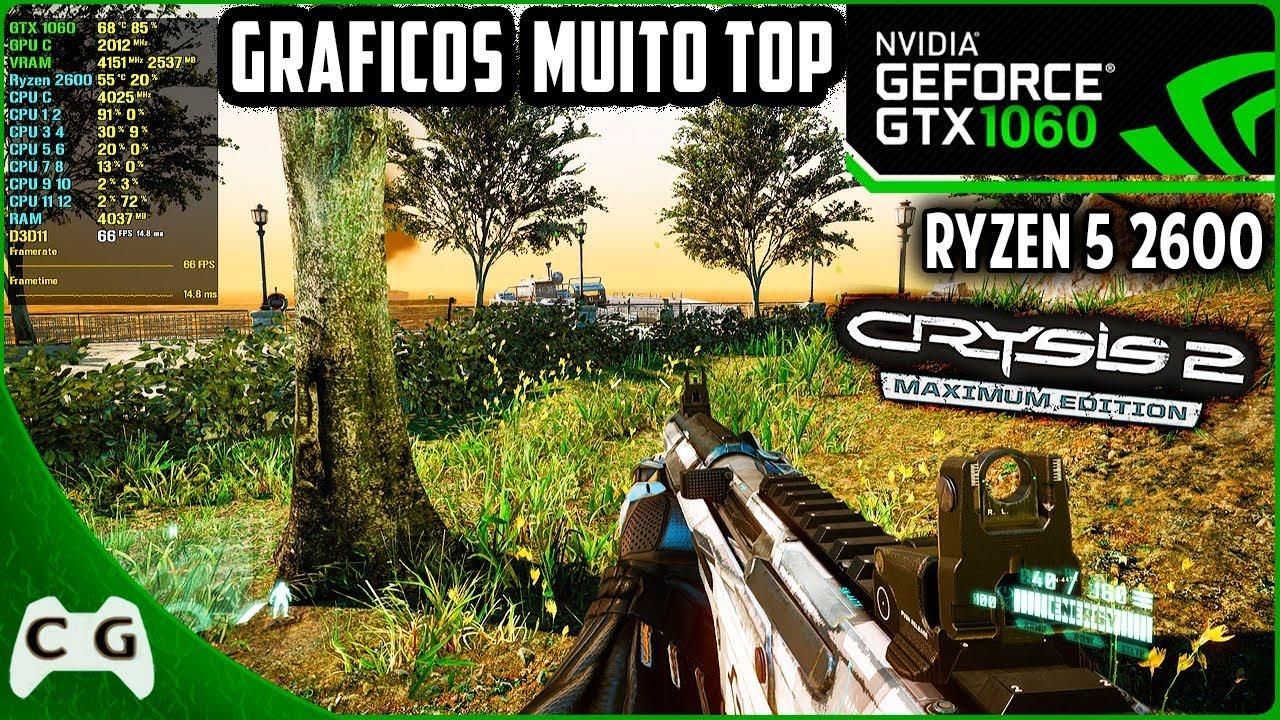 Crysis 2 Maximum Edition Mod Gráfico Ultra Realistas Gameplay Teste - Tudo No Máximo 1080p