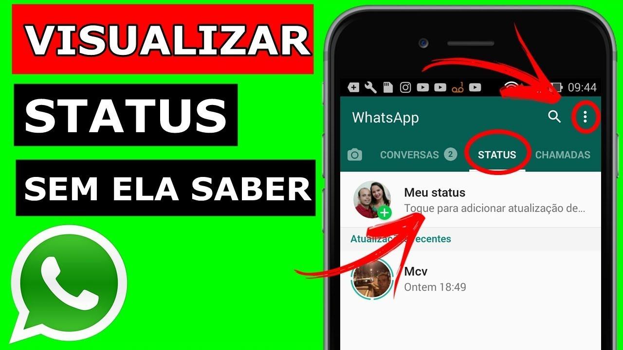 Como Visualizar Status Do Whatsapp Sem A Pessoa Saber Youtube