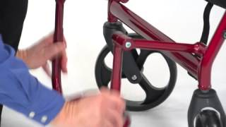 Duet Black Transport Wheelchair Rollator Walker