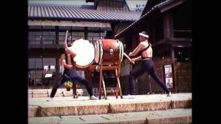今福優さん(元鬼太鼓座)と藤本吉利さん(鼓童)の演奏 曲目. 「仁義」