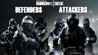 Rainbow Six Siege Top 3 Defenders/Attackers