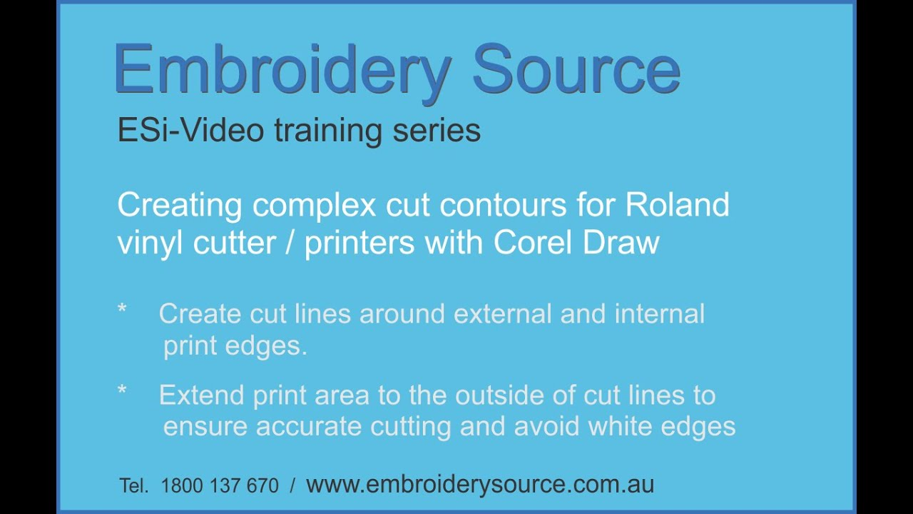 Using Corel Draw To Createplex Cut Contours For A Vinyl Cutters