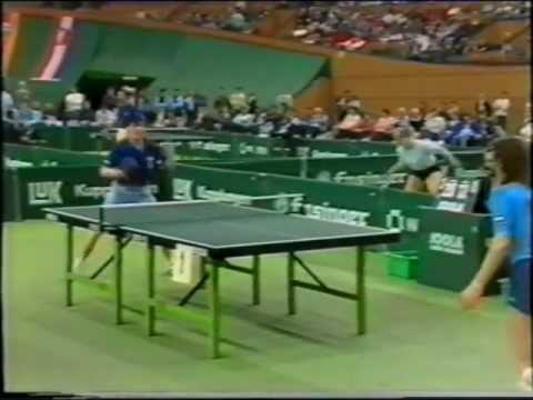 Table Tennis EM Moskau 1984 Guo TTC Grenzau-Modell Secretin Orlwski