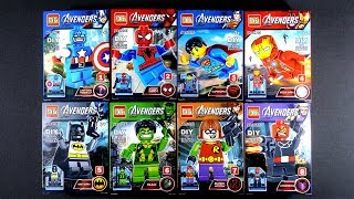 LEGO Super Heroes Marvel DC Avengers Minifigures Mighty Micros (bootleg / knock-off)