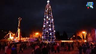 Зажигание новогодней елки в Запорожье 19.12.2017