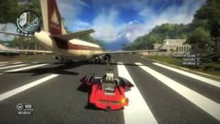 Just Cause 2 PS3-Avion qui vole avec un bateau accroché