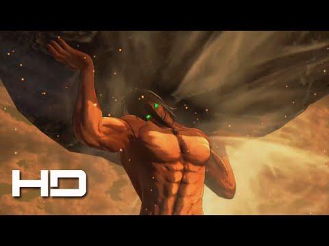ATTACK ON TITAN (PS4) TItan Eren Lifts Giant Boulder - Walkthrough Gameplay Cutscene