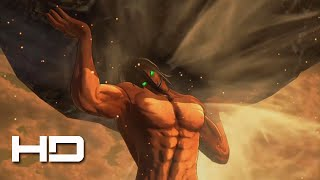 ATTACK ON TITAN (PS4) Titan Eren Lifts Giant Boulder - Walkthrough Gameplay Cutscene