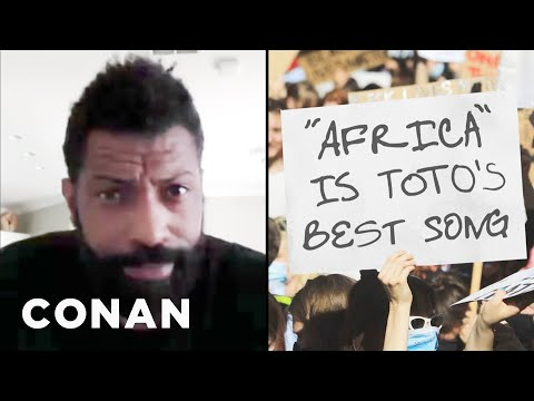 Deon Cole On White Protester Signs That Missed The Mark - CONAN on TBS