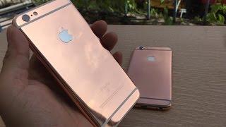 Ngắm bộ đôi iPhone 6S Plus mạ vàng hồng 24K và iPhone 6s mạ vàng đen tại Tp HCM, Hà Nội