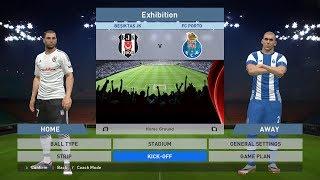 Besiktas JK vs FC Porto, BJK Vodafone Park, PES 2016, PRO EVOLUTION SOCCER 2016, Konami, PC GAMEPLAY