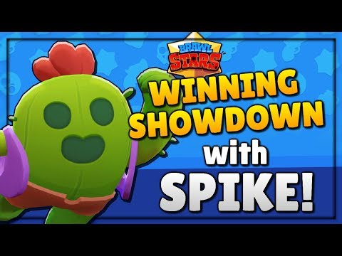WINNING SHOWDOWN with SPIKE! Legendary Brawler Gameplay! Brawl Stars - How to Win Showdown!