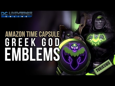 DCUO Amazon Time Capsules: Greek God Emblems